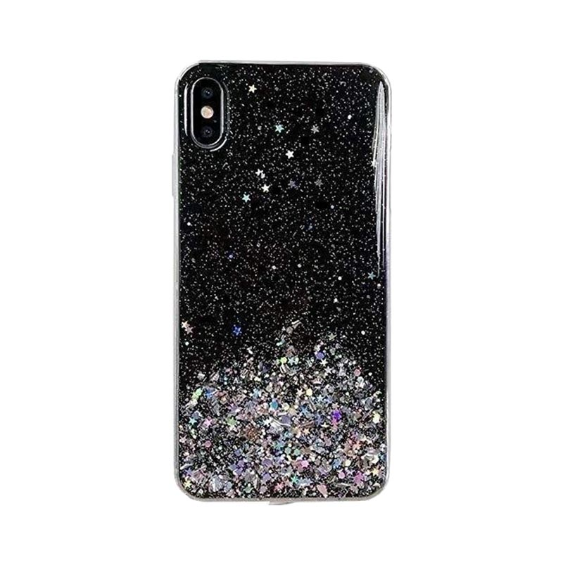 Kryt na Samsung Galaxy S21 Plus Star Glitter Black