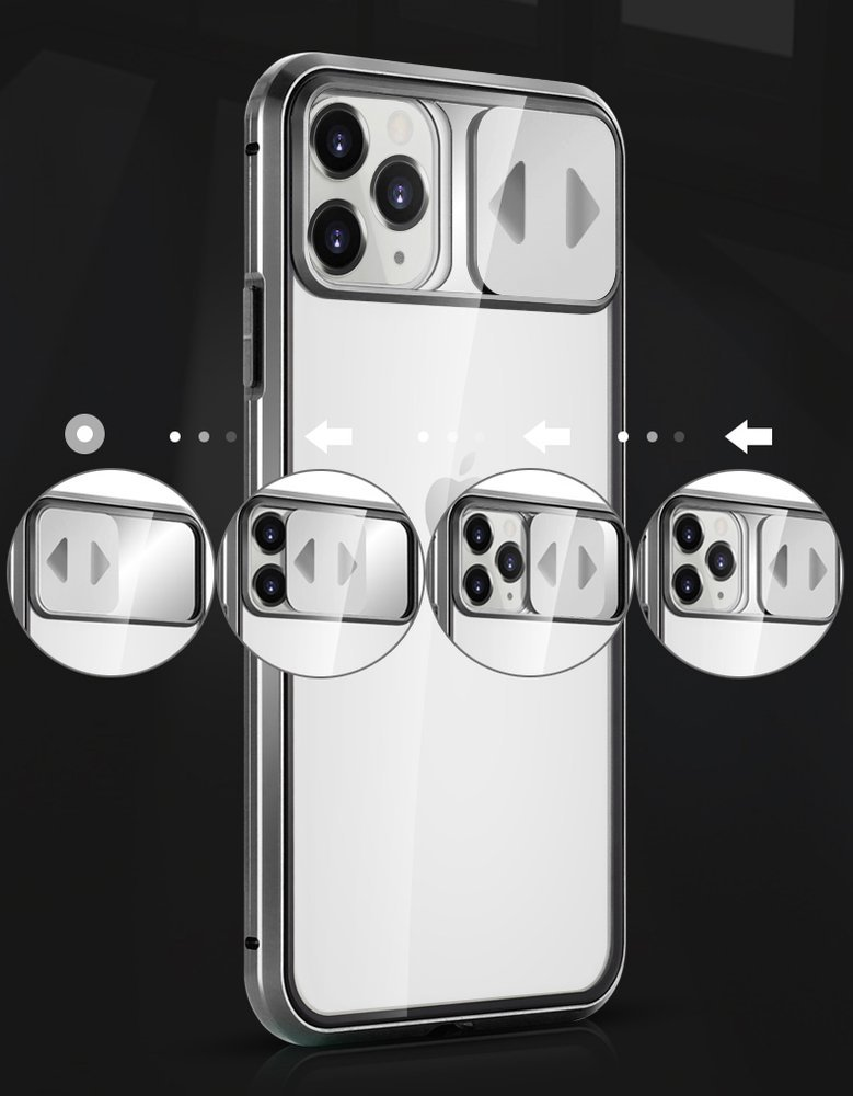 Magnetic cam slider kryt na Huawei P40 Lite 360° Black