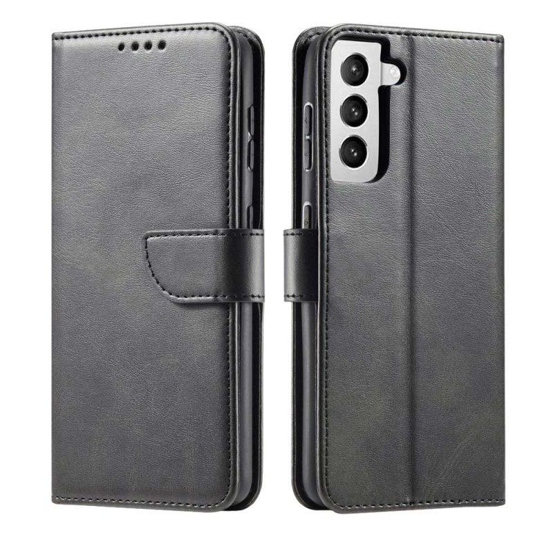Magnetické Flip puzdro na Samsung Galaxy S21 Čierne