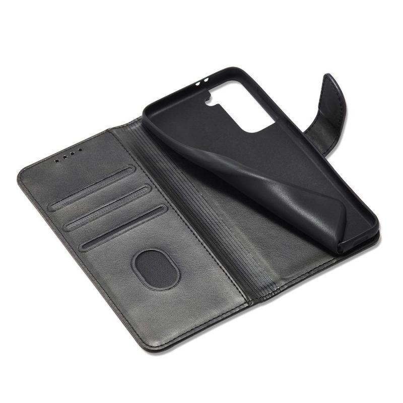 Magnetické Flip puzdro na Samsung Galaxy S21 Plus Čierne