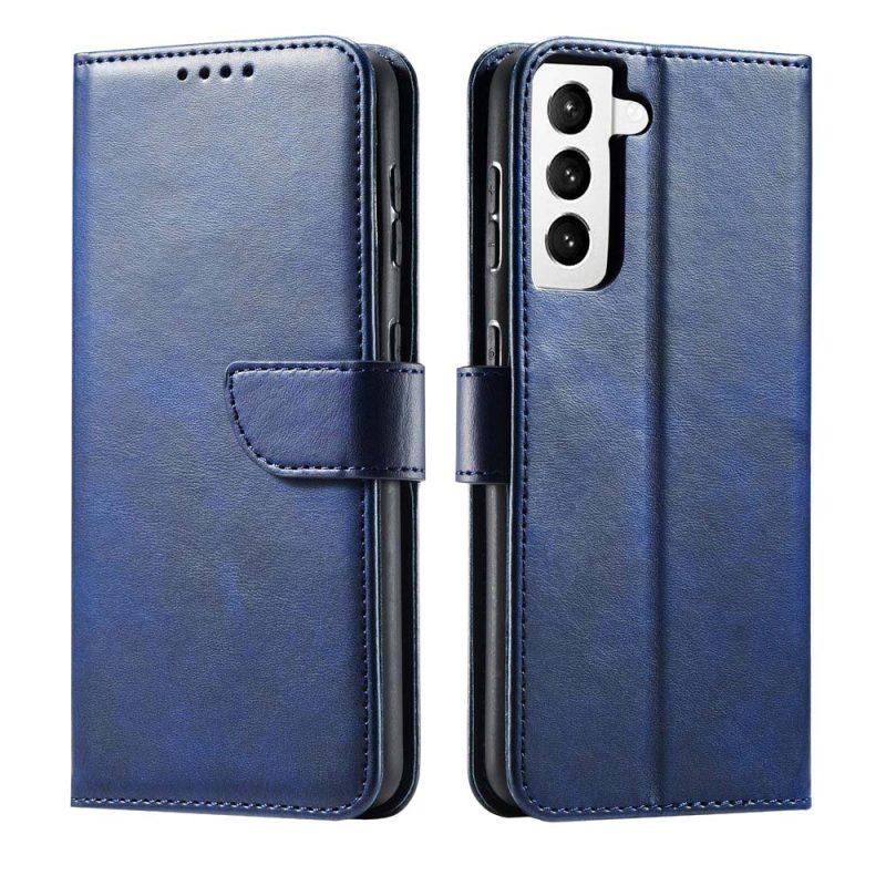 Magnetické Flip puzdro na Samsung Galaxy S21 Modré