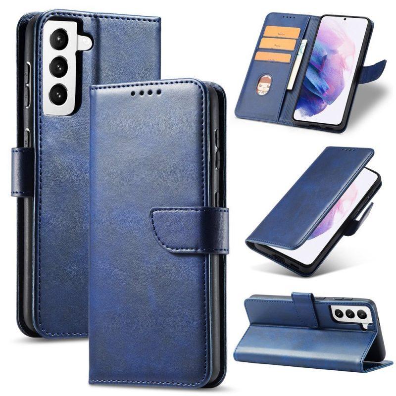 Magnetické Flip puzdro na Samsung Galaxy S21 Plus Modré