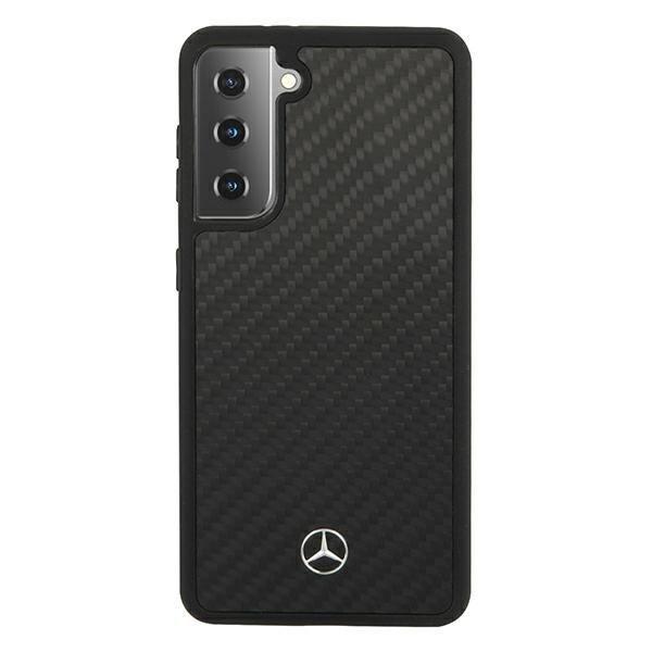Mercedes kryt na Samsung Galaxy S21 Plus Black Carbon