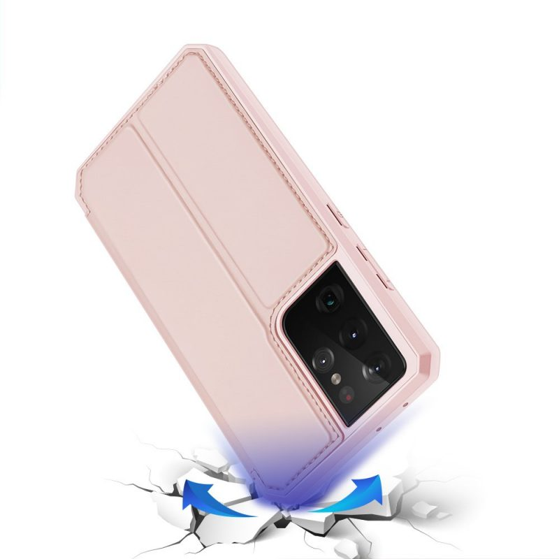 Ochranné Flip puzdro na Samsung Galaxy S21 Ultra Ružové