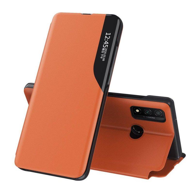 Ochranné flip puzdro na Huawei P40 Lite Oranžový