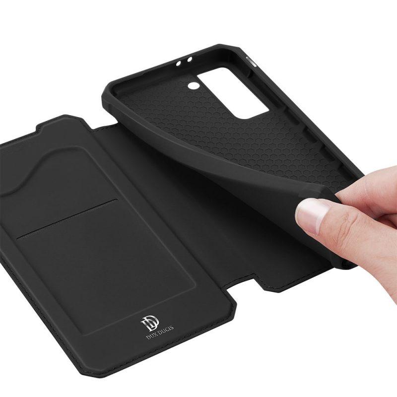 Ochranné Flip puzdro na Samsung Galaxy S21 Plus Čierny