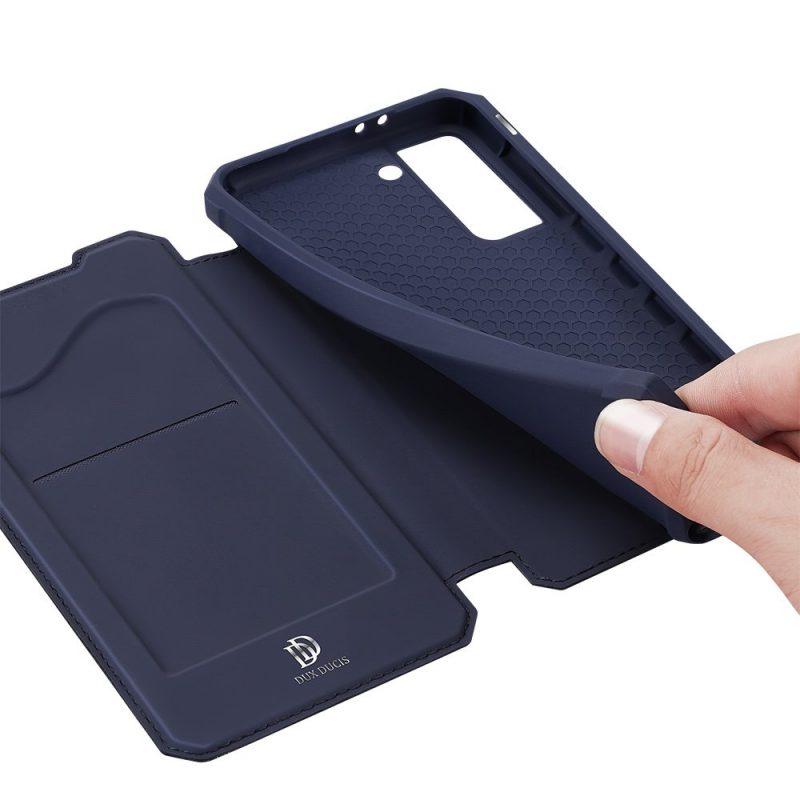 Ochranné Flip puzdro na Samsung Galaxy S21 Plus Tmavo Modrý