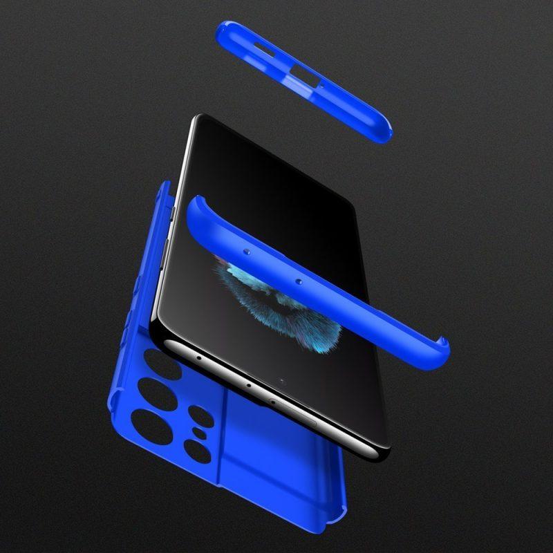 Odolný Full Body kryt na Samsung Galaxy S21 Ultra Modrý
