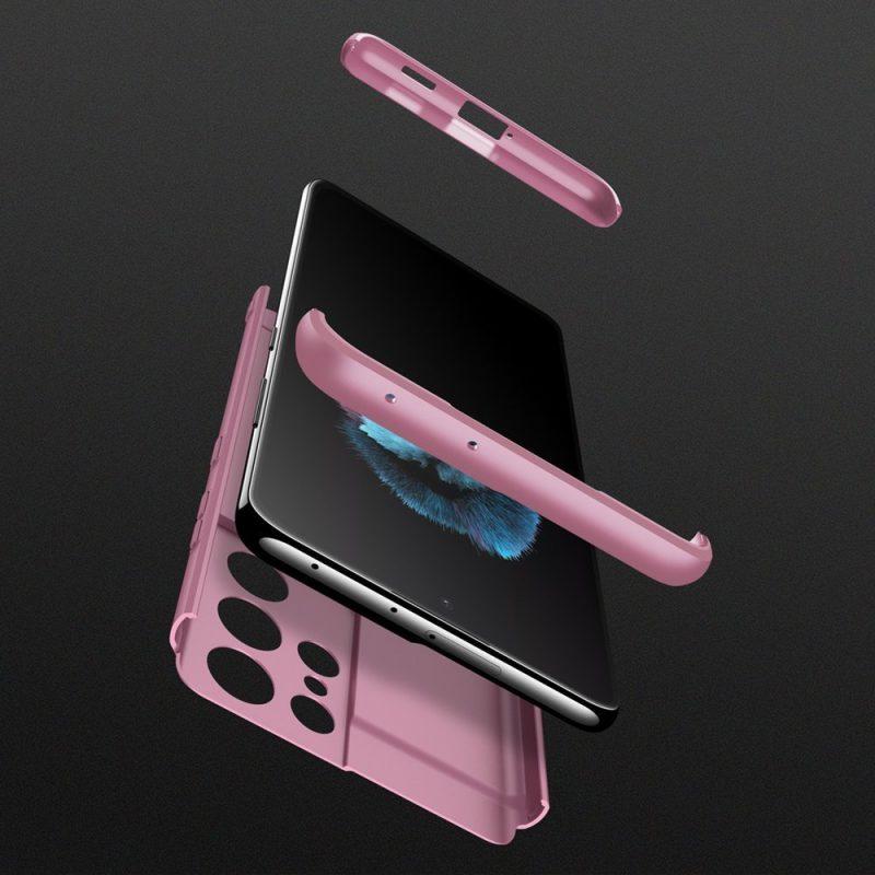 Odolný Full Body kryt na Samsung Galaxy S21 Ultra Ružový