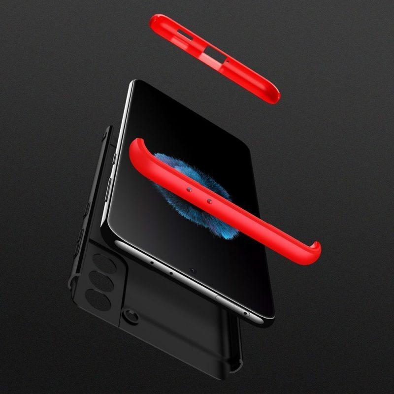 Ochranný kryt na Samsung Galaxy S21 Čierno-červený