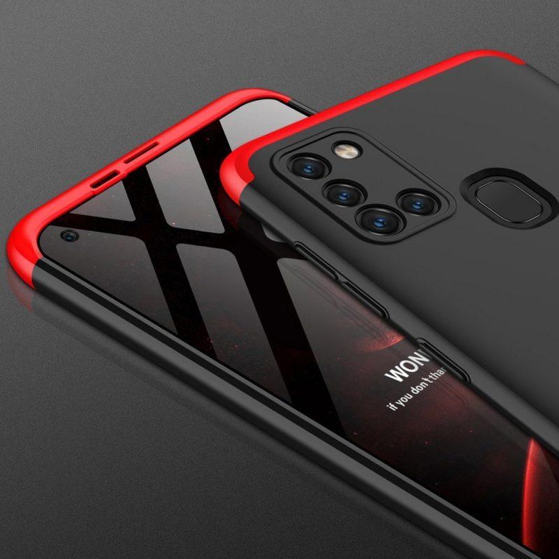 Odolný Full Body kryt na Samsung Galaxy A21S Black Red