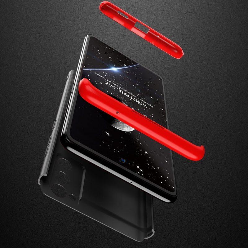 Odolný Full Body kryt na Samsung Galaxy S20 FE Black-Red