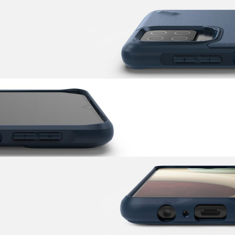Onyx Durable kryt na Samsung Galaxy A12 Navy Blue