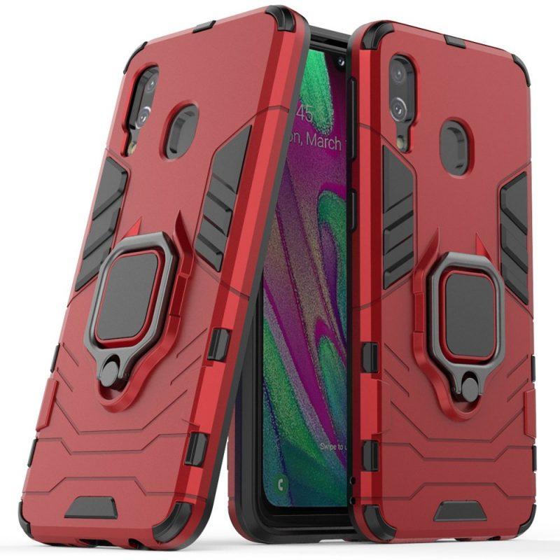 Ring Armor kryt na Samsung Galaxy A40 Červený