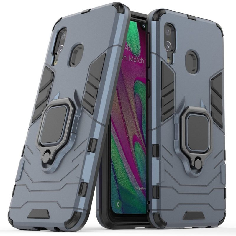 Ring Armor kryt na Samsung Galaxy A40 Modrý