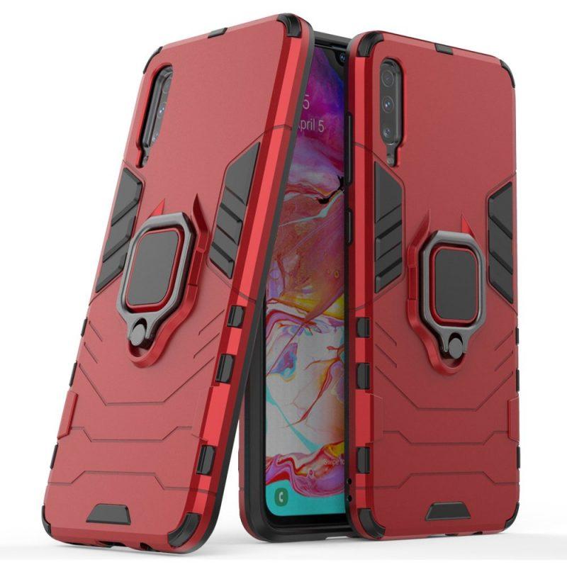 Ring Armor kryt na Samsung Galaxy A70 Červený