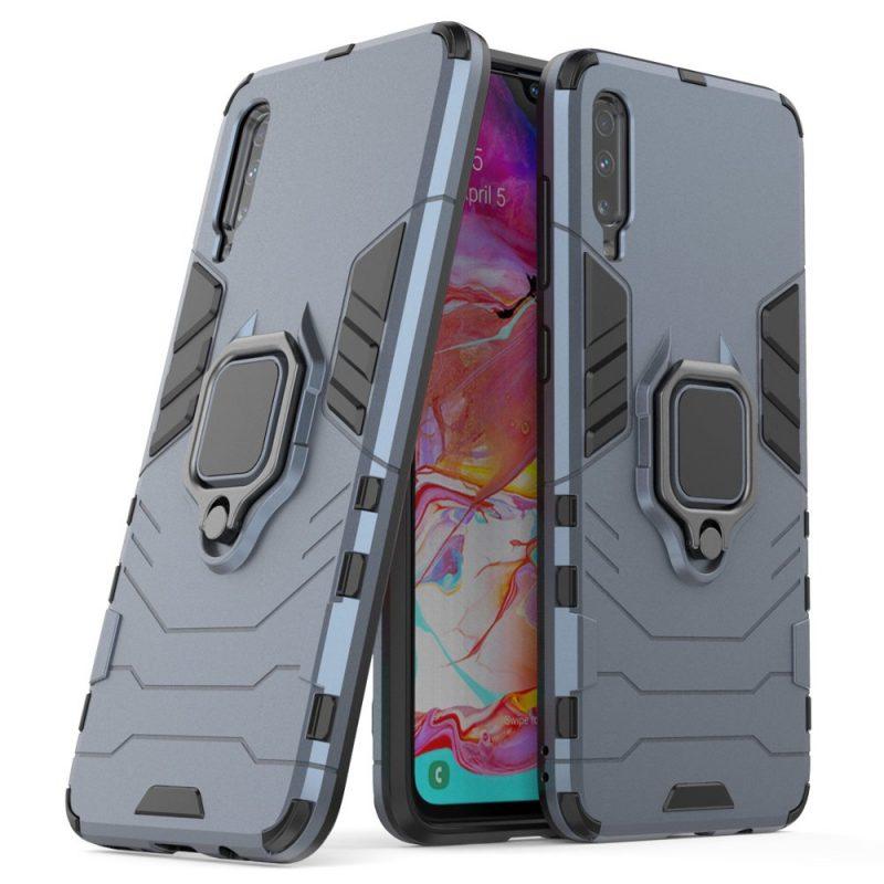 Ring Armor kryt na Samsung Galaxy A70 Modrý