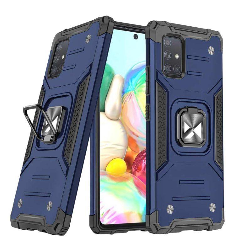 Ring Armor kryt na Samsung Galaxy A71 Modrý