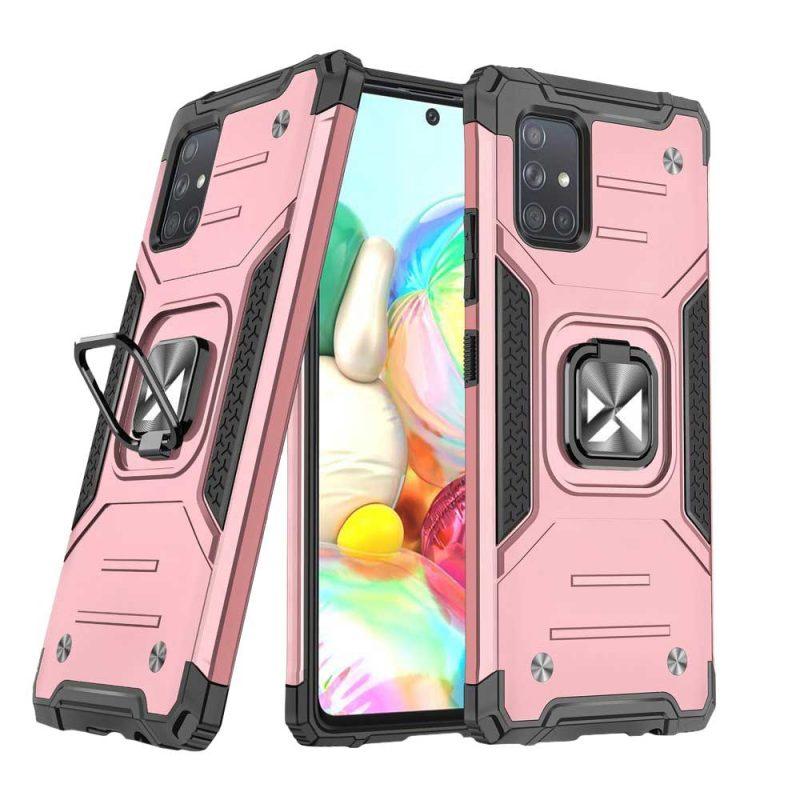 Ring Armor kryt na Samsung Galaxy A71 Ružový