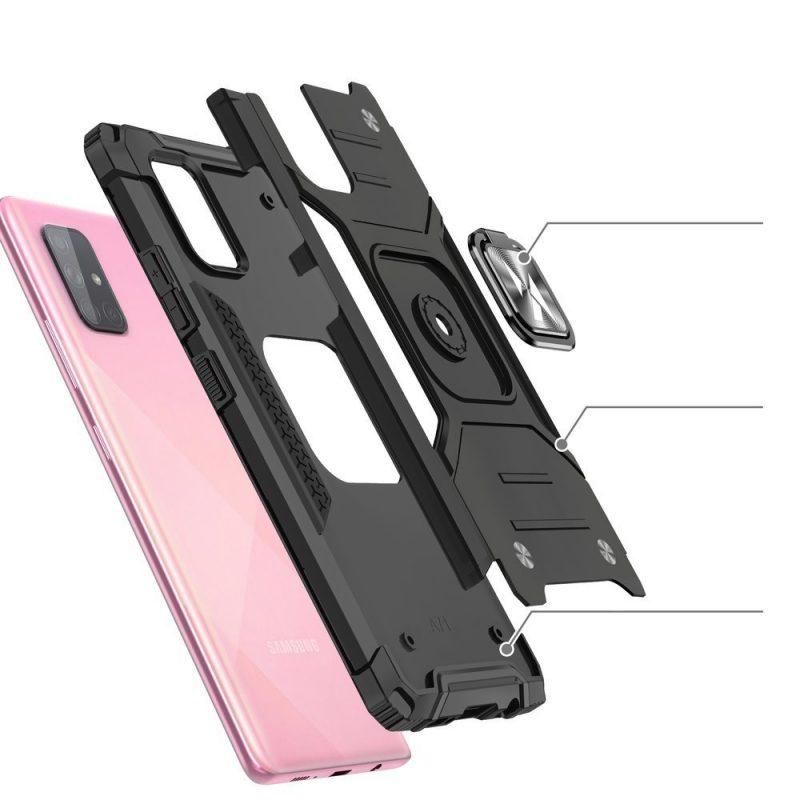 Ring Armor kryt na Samsung Galaxy M31s Pink