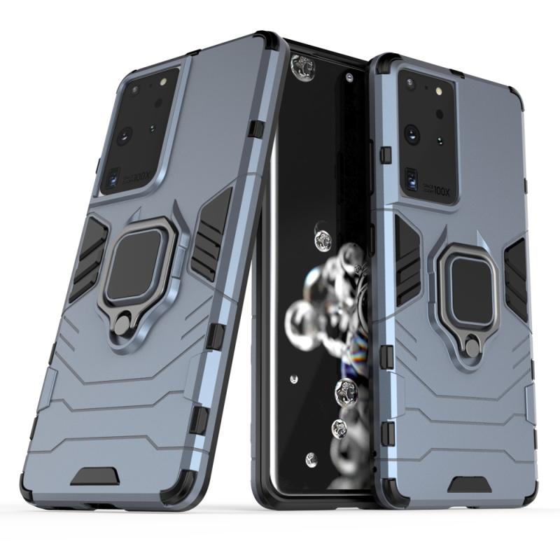 Ring Armor Kryt na Samsung Galaxy S21 Ultra Modrý