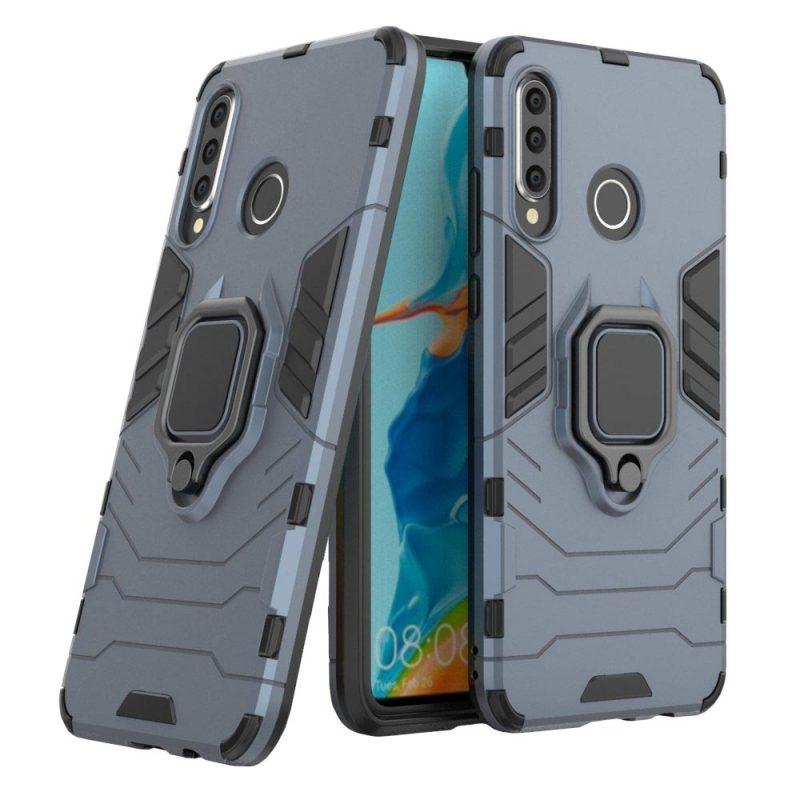 Armor kryt na Huawei P30 Lite s držiakom modrý