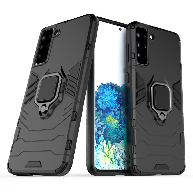Ring Armor kryt na Samsung Galaxy S21 Plus Čierny