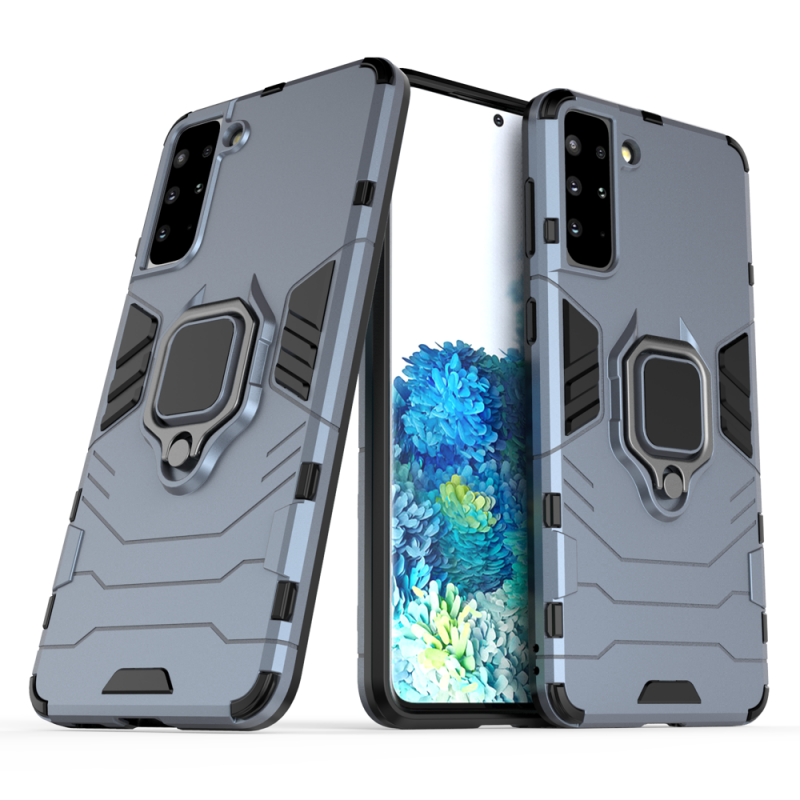 Ring Armor kryt na Samsung Galaxy S21 Plus Modrý