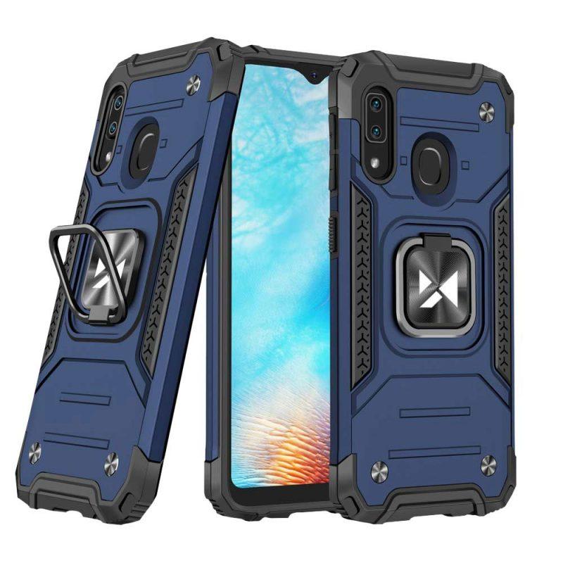 Ring Armor kryt na Samsung Galaxy A20e Modrý