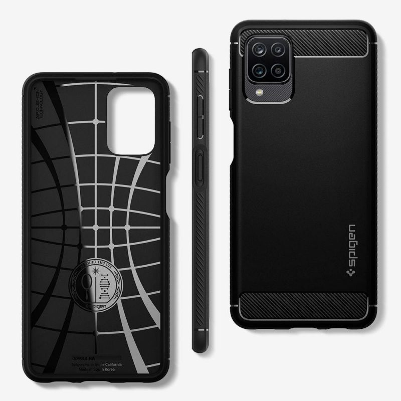 Rugged Armor kryt na Samsung Galaxy A12 Matte Black