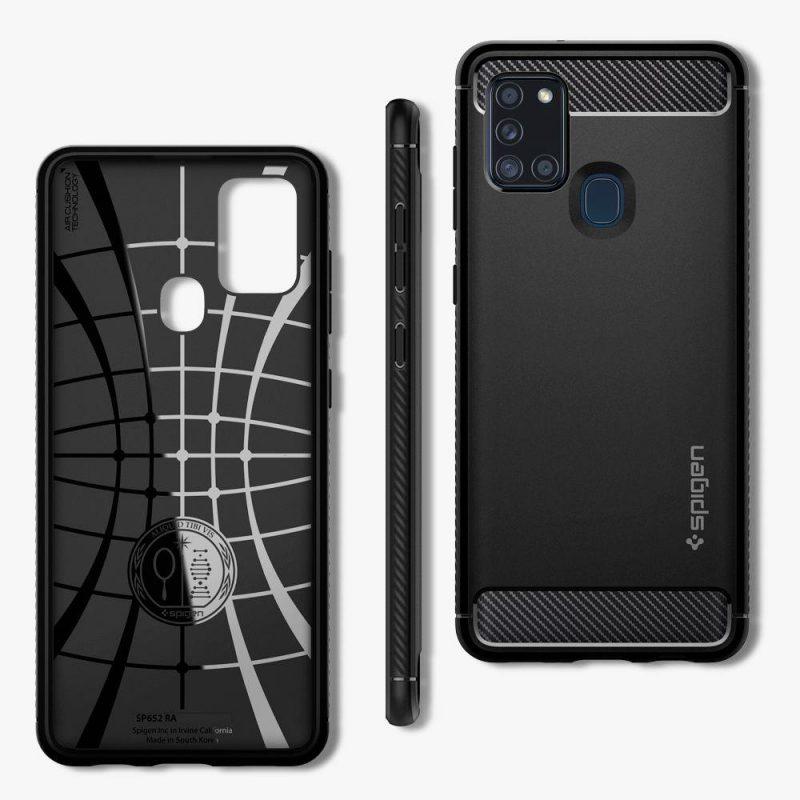 Rugged Armor kryt na Samsung Galaxy A21S Matte Black
