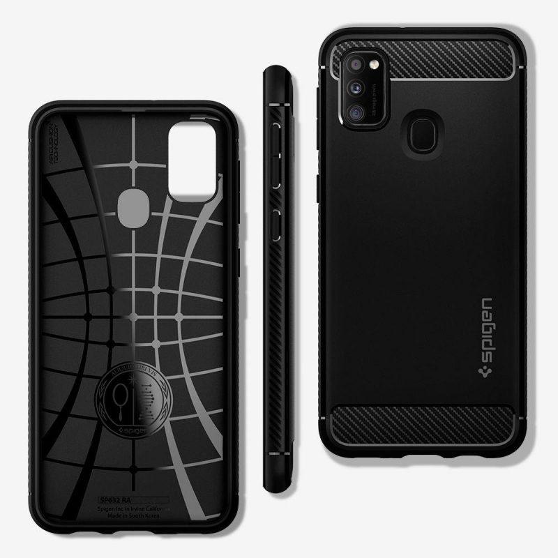 Rugged Armor kryt na Samsung Galaxy M21 Black