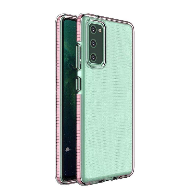 Kryt na Samsung Galaxy S21 s Ružovým rámom