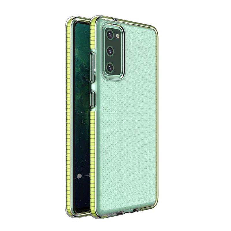 Kryt na Samsung Galaxy S21 Plus so žltým rámom