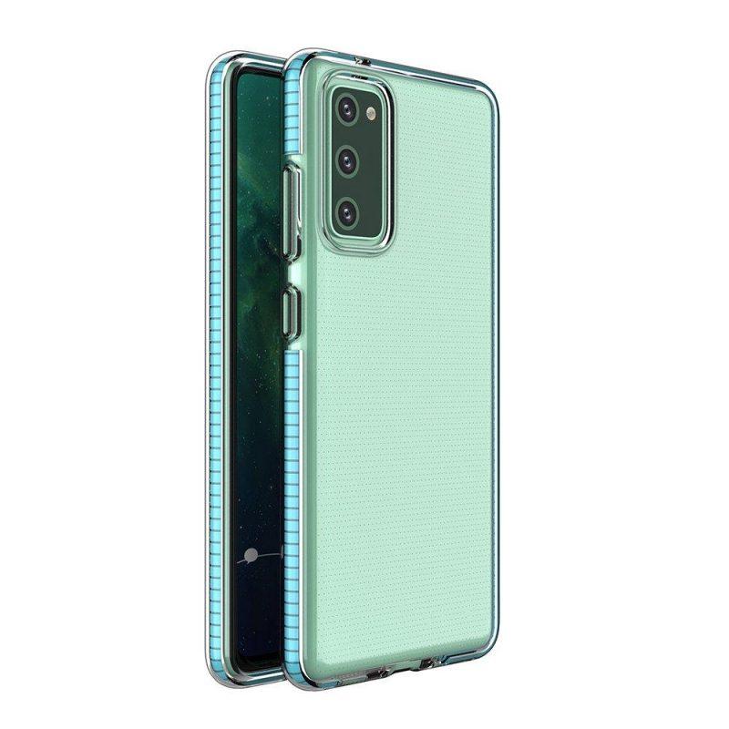 Kryt na Samsung Galaxy S21 Plus s tyrkysovým rámom