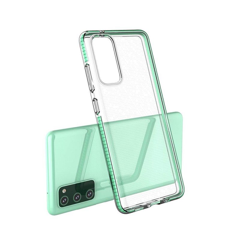 Kryt na Samsung Galaxy S21 Plus so zeleným rámom