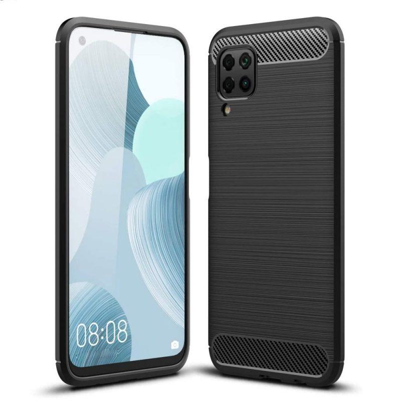 Silikónový Carbon kryt na Huawei P40 Lite Black