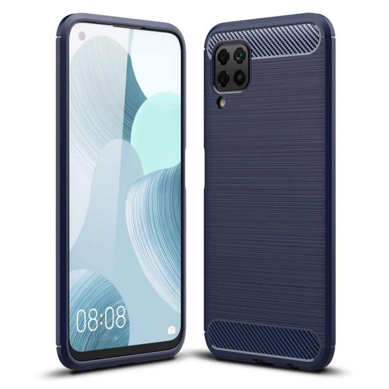 Silikónový Carbon kryt na Huawei P40 Lite Modrý