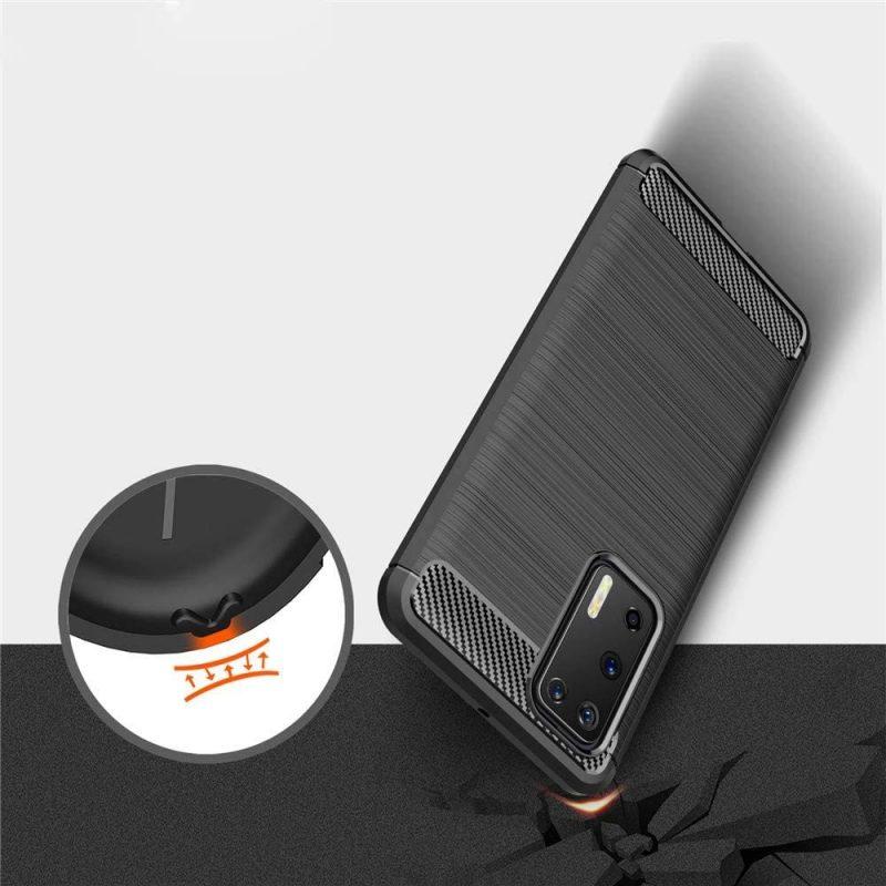 Silikónový Carbon kryt na Huawei P40 Pro Čierny