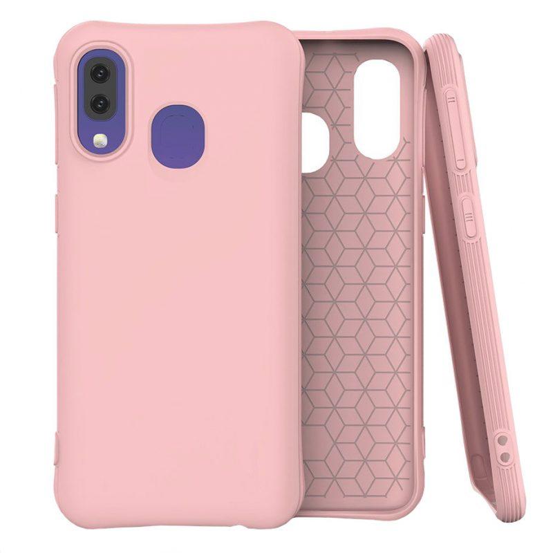 Silikónový kryt na Samsung Galaxy A40 Ružový