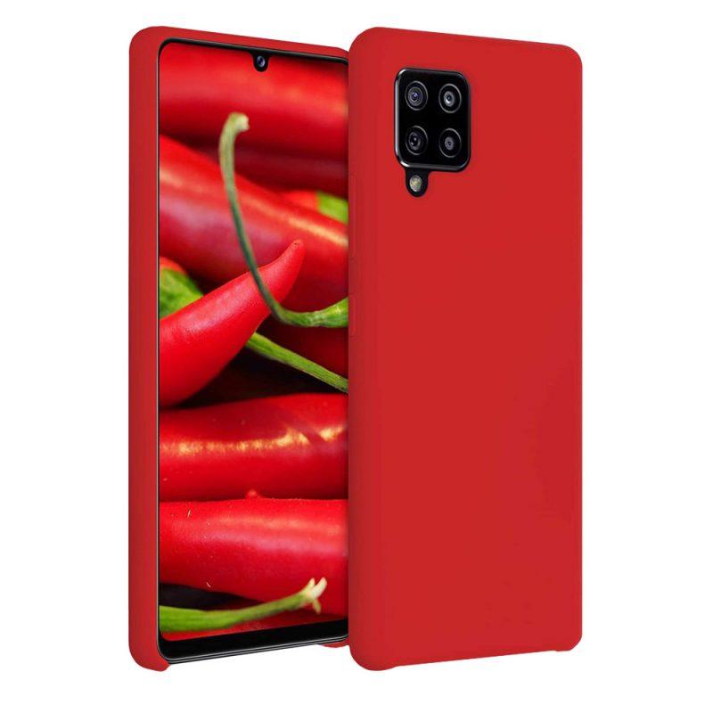 Silikónový kryt na Samsung Galaxy A42 Červený
