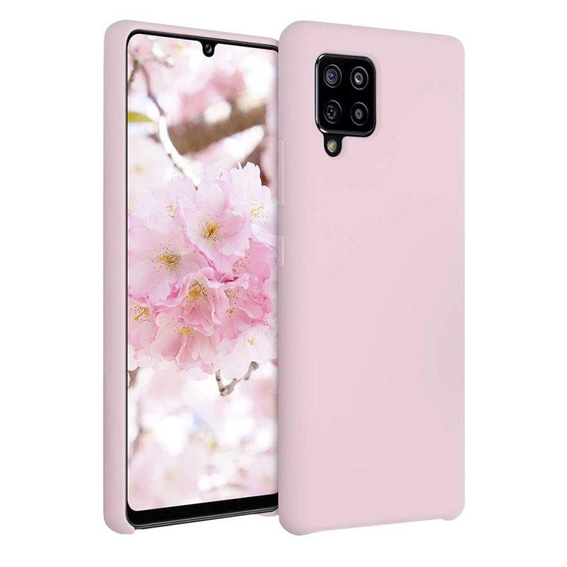 Silikónový kryt na Samsung Galaxy A42 Ružový