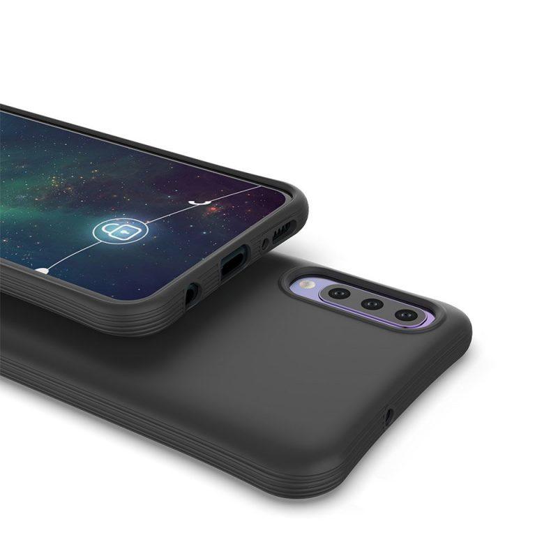 Silikónový kryt na Samsung Galaxy A70 Čierny