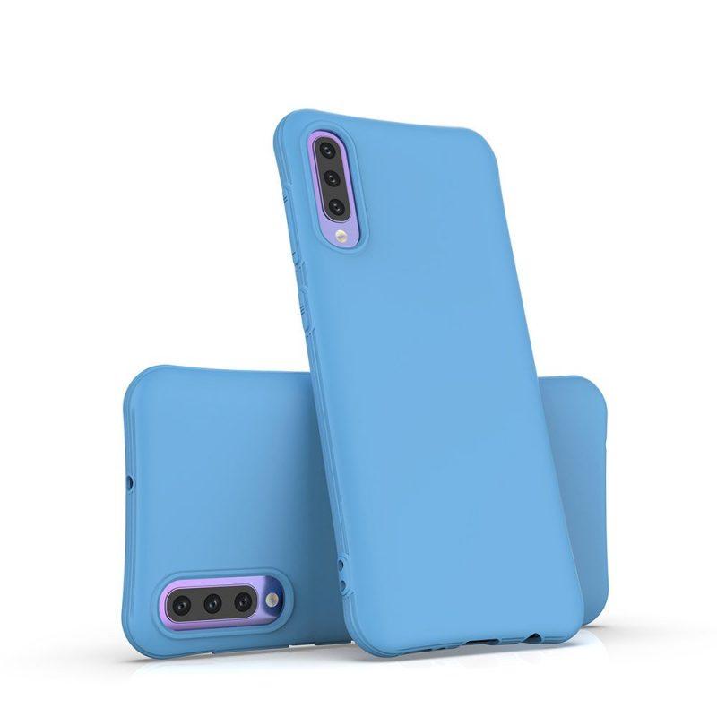 Silikónový kryt na Samsung Galaxy A70 Modrý