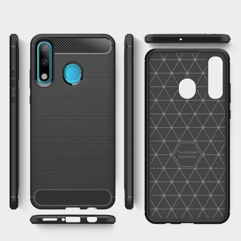 Silikónový kryt na Huawei P30 Lite Carbon Black