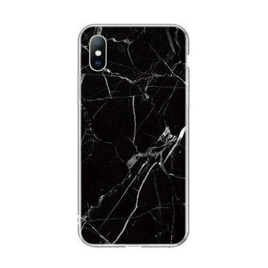 Silikónový kryt na Huawei P40 Lite Black Marble