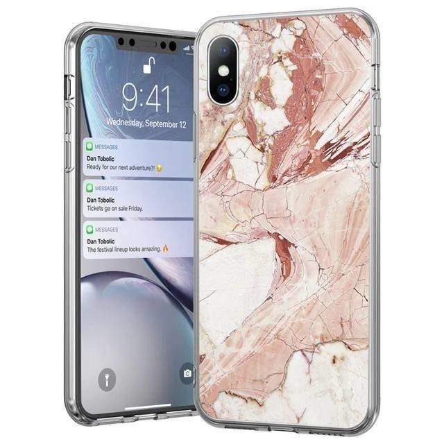 Silikónový kryt na Huawei P40 Lite Pink Marble