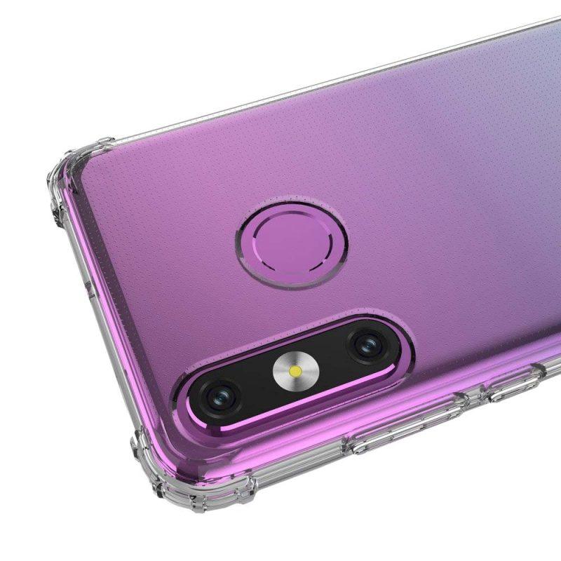 Silikónový kryt na Huawei P30 Lite s vystuženými hranami Priehľadný