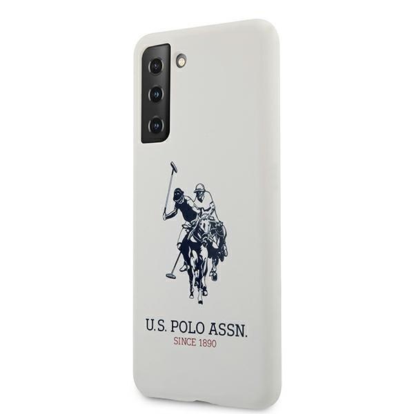 Silikónový kryt na Samsung Galaxy S21 Plus U.S. Polo Biely