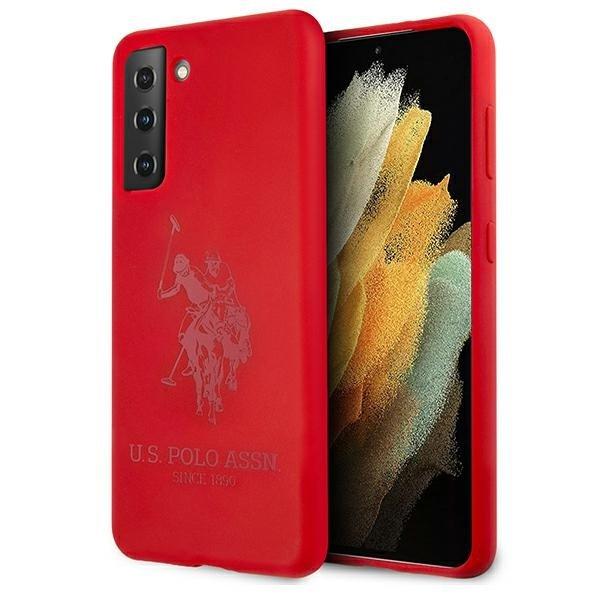 Silikónový kryt na Samsung Galaxy S21 Plus U.S. Polo Červený